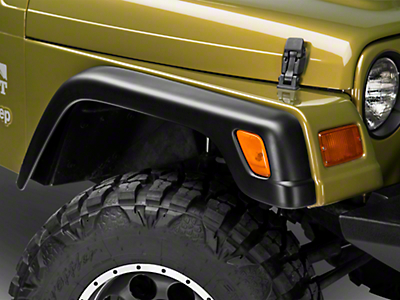 RedRock 4x4 Replacement Style Fender Flare Kit - 6 piece (97-06 Wrangler TJ)