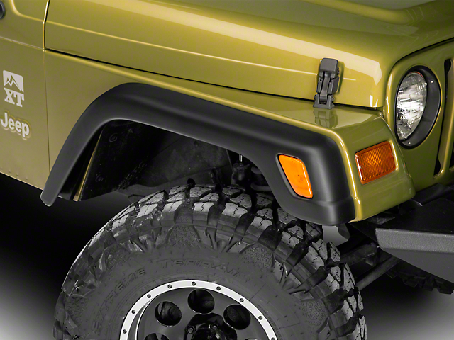 RedRock 4x4 4-Piece Replacement Style Fender Flares (97-06 Jeep Wrangler TJ)