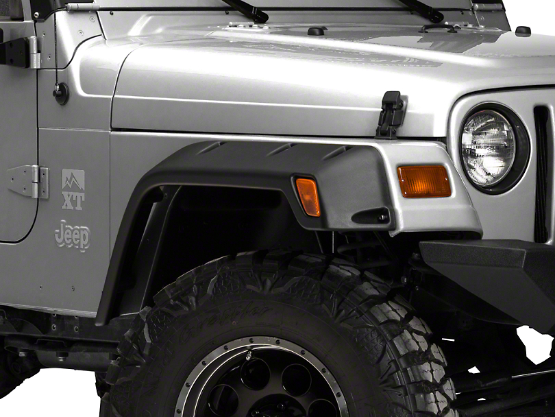 Bushwacker Extended Coverage Pocket Style Fender Flares For Jeep Jk Wrangler And Unlimited 11 75