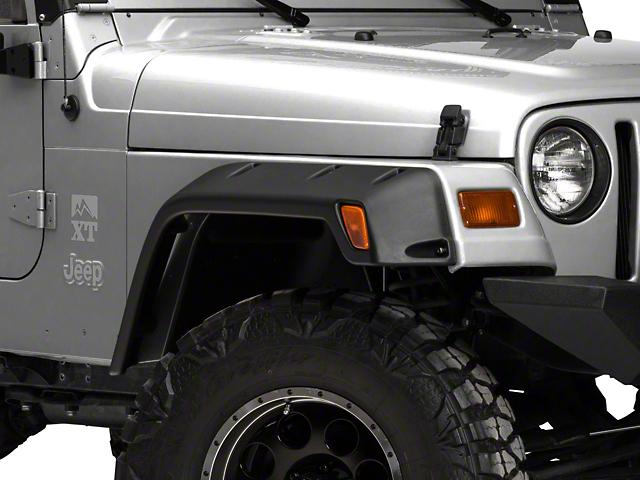 RedRock 4x4 Rivet Style Fender Flare Kit; 6 Inch (97-06 Jeep Wrangler TJ)