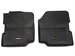 Barricade Front Floor Mats - Black (87-95 Jeep Wrangler YJ)