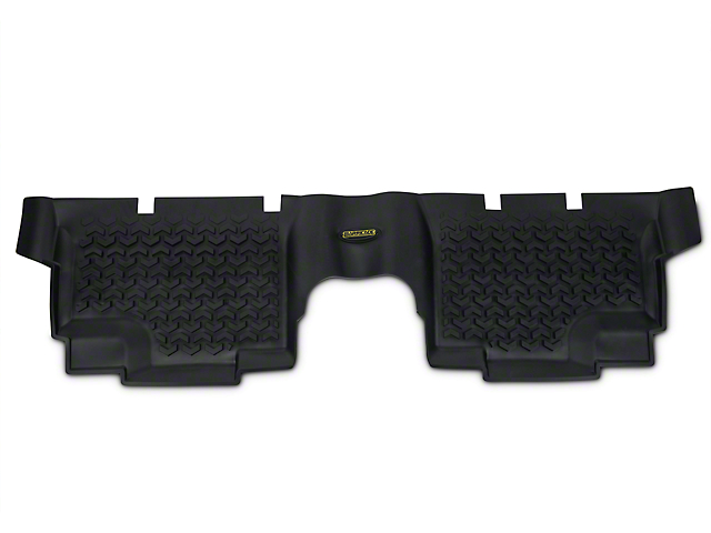 Barricade Rear Floor Mat - Black (07-18 Jeep Wrangler JK 4 Door)