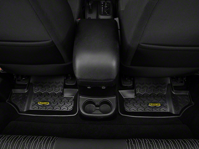 Barricade Rear Floor Mats - Black (07-18 Jeep Wrangler JK 2 Door)