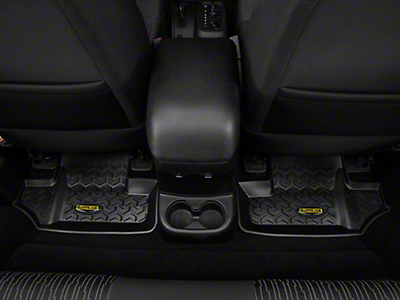 Barricade Rear Floor Liners - Black (07-17 Wrangler JK 2 Door)