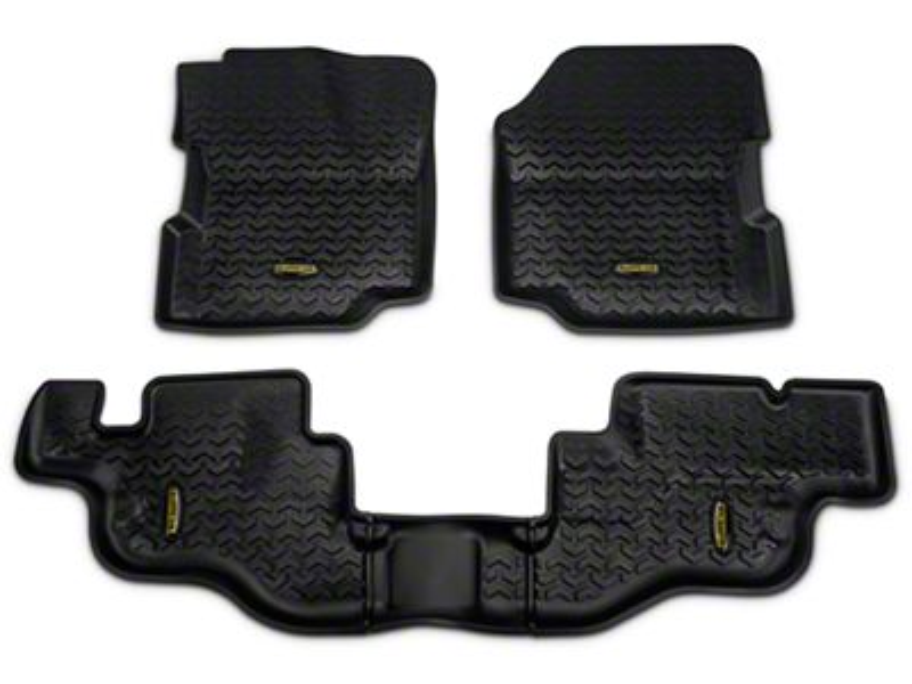 Barricade Front & Rear Floor Mats - Black (87-95 Jeep Wrangler YJ)