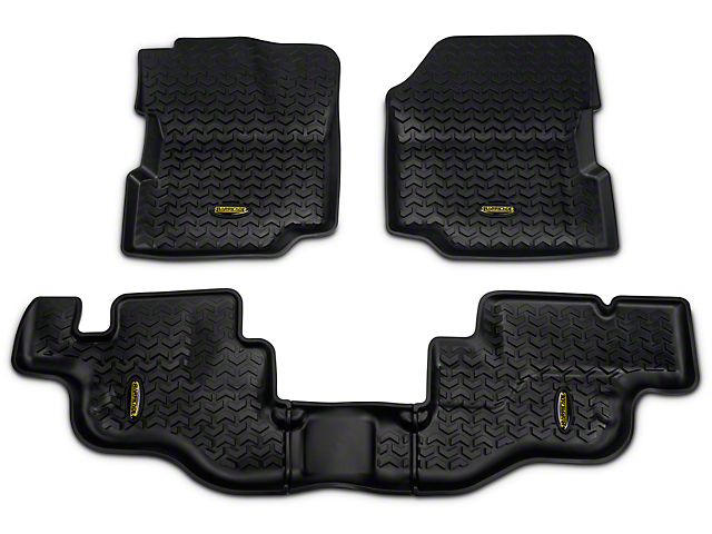 Barricade Front & Rear Floor Mats - Black (87-95 Jeep Wrangler YJ)