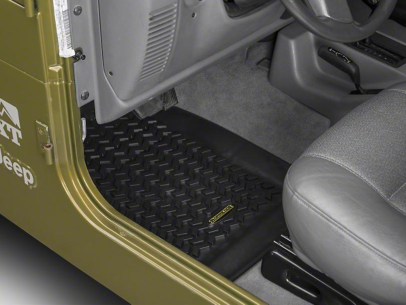 Barricade Front & Rear Floor Liners - Black (97-06 Jeep Wrangler TJ)