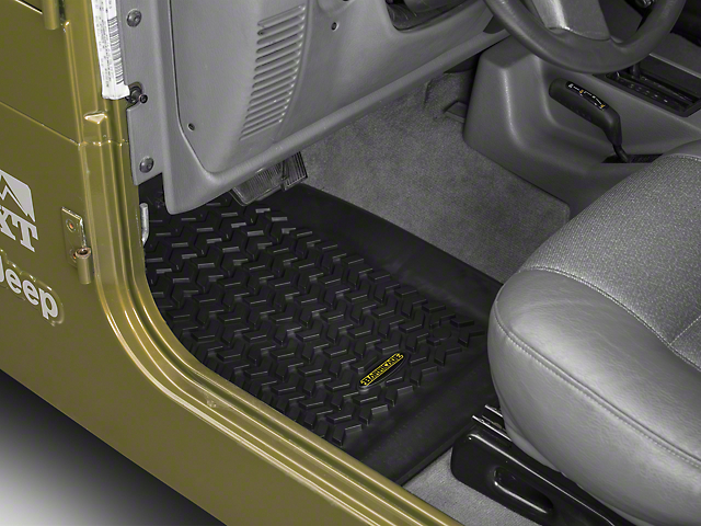 Barricade Front and Rear Floor Mats; Black (97-06 Jeep Wrangler TJ)