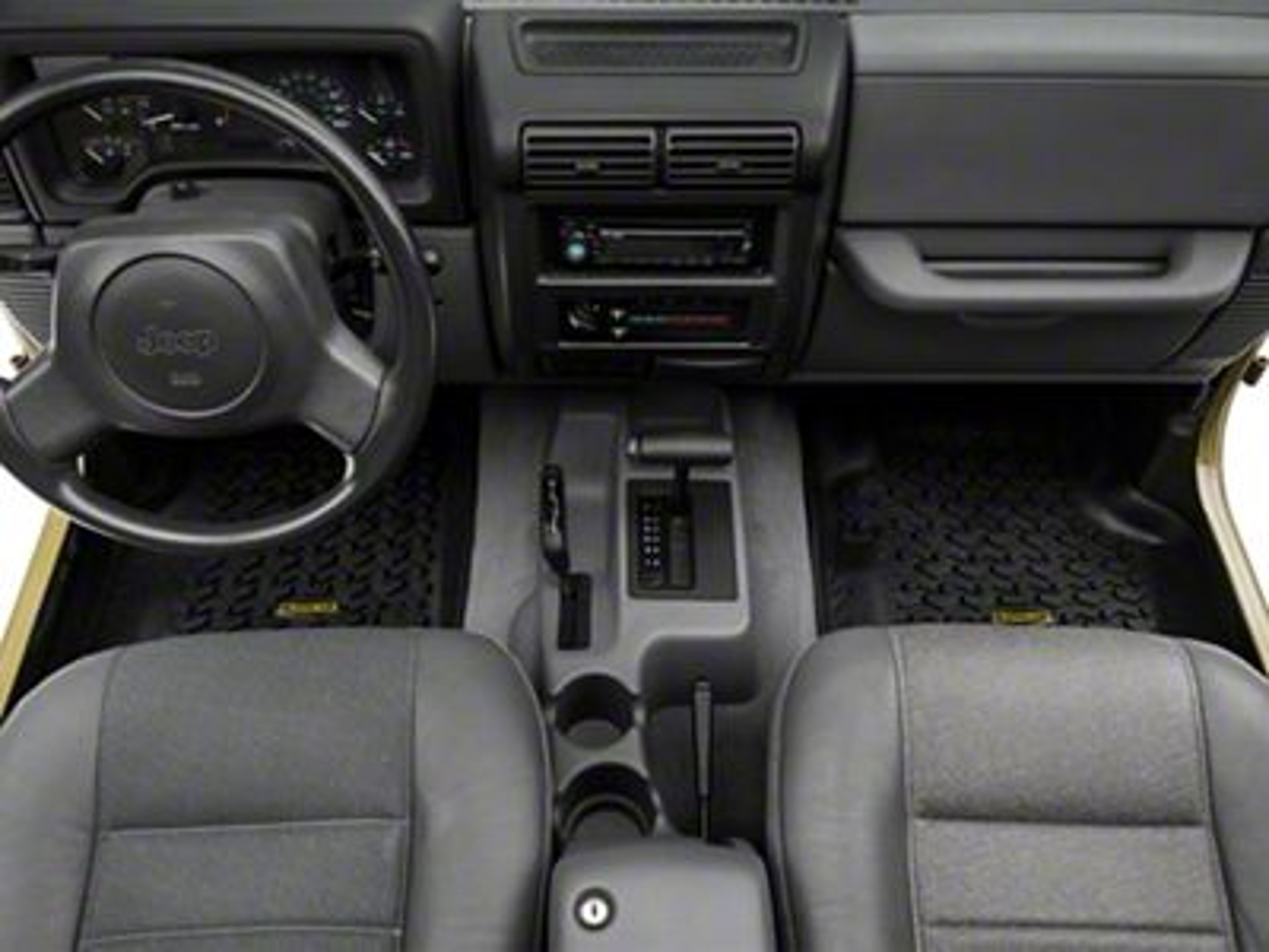 Barricade Front, Rear & Cargo Floor Mats - Black (97-06 Jeep Wrangler TJ)