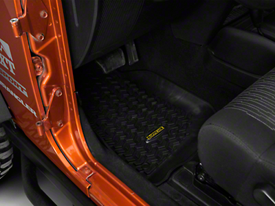 Barricade Front & Rear Floor Liners - Black (07-18 Wrangler JK 2 Door)