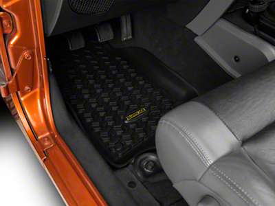 Barricade Front & Rear Floor Liners - Black (07-18 Jeep Wrangler JK 4 Door)