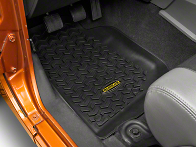 Barricade Front, Rear & Cargo Floor Liners - Black (07-10 Jeep Wrangler JK 4 Door)
