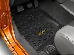 Barricade Front, Rear and Cargo Floor Mats; Black (07-10 Jeep Wrangler JK 4 Door)