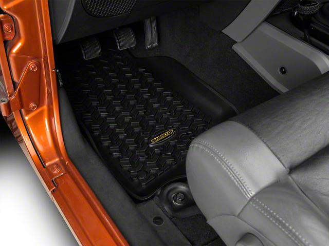 Barricade Front, Rear and Cargo Floor Mats; Black (11-18 Jeep Wrangler JK 4 Door)