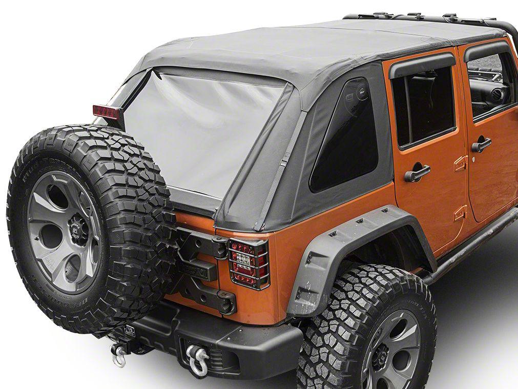 Rugged Ridge Bowless Top - Black Diamond (07-18 Jeep Wrangler JK 4 Door)
