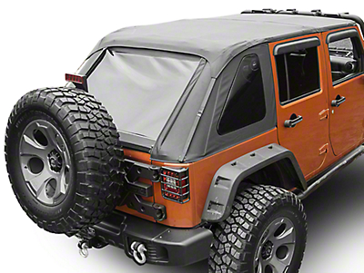Rugged Ridge Bowless Top - Black Diamond (07-18 Wrangler JK 4 Door)