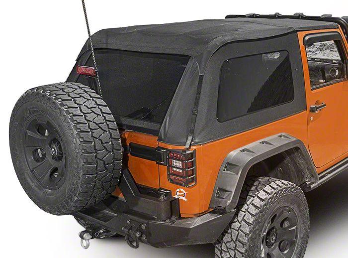 Rugged Ridge Bowless Top - Black Diamond (07-18 Jeep Wrangler JK 2 Door)
