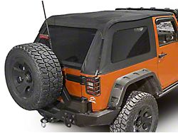 Rugged Ridge Bowless Soft Top; Black Diamond (07-18 Jeep Wrangler JK 2 Door)