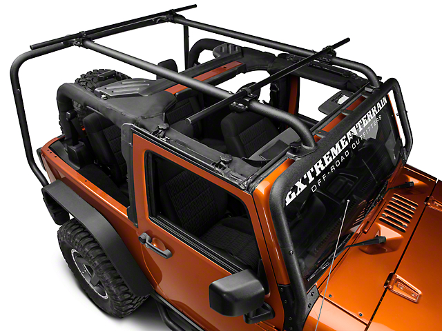 Rugged Ridge Sherpa Roof Rack Crossbars; 56.50-Inch (07-18 Jeep Wrangler JK)