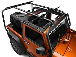 Rugged Ridge 56.5 in. Round Crossbars for Sherpa Roof Rack (07-18 Jeep Wrangler JK)