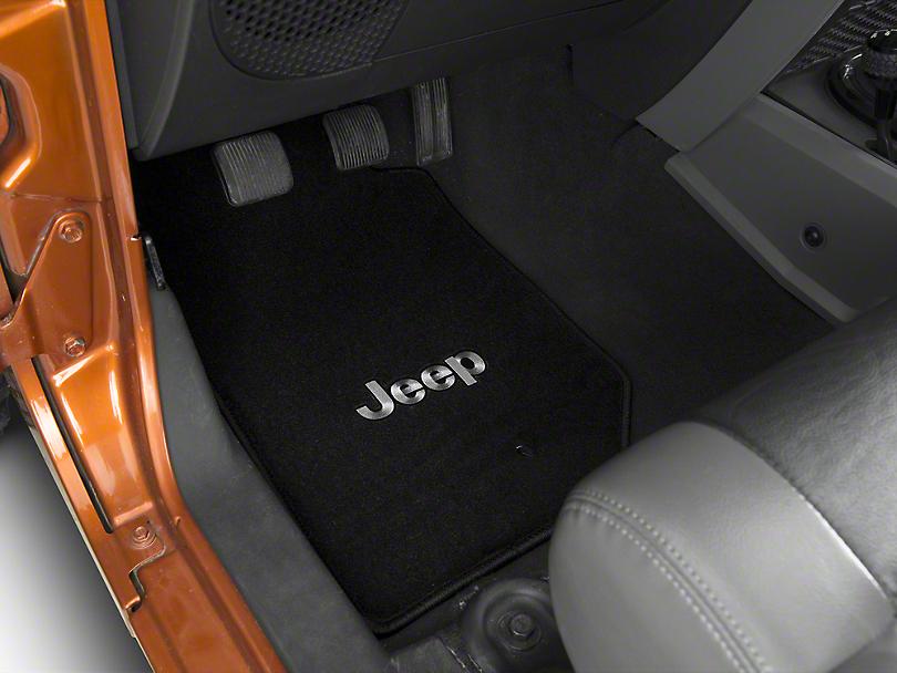 Lloyd All Weather Carpet Front & Rear Black Floor Mats - Jeep Logo (07-13 Jeep Wrangler JK 4 Door)