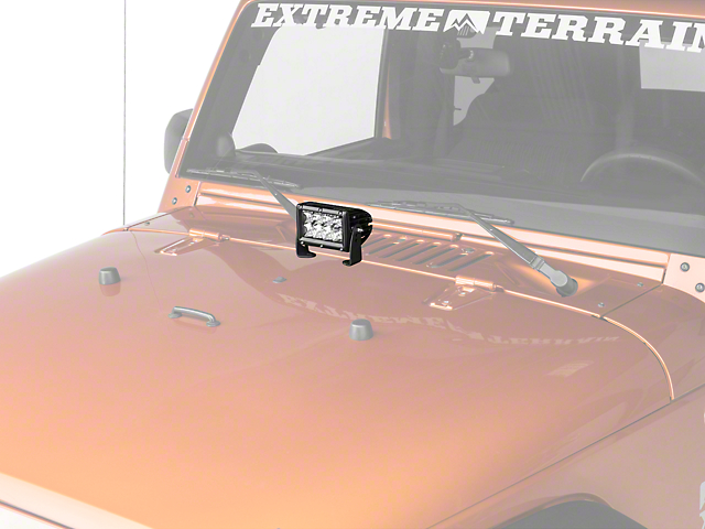 Rigid industries wrangler 4 in e series led light bar spot beam e series led light bar spot beam mozeypictures Images