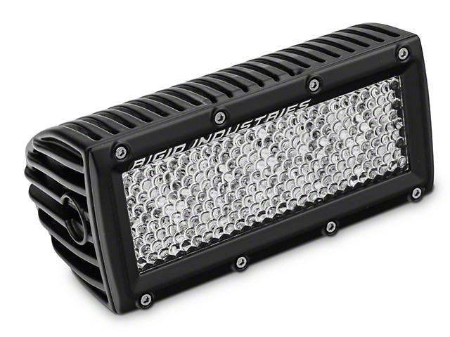 Rigid Industries 6 Inch E Series LED Light Bar; 60 Deg. Diffused Lens; Flood Beam