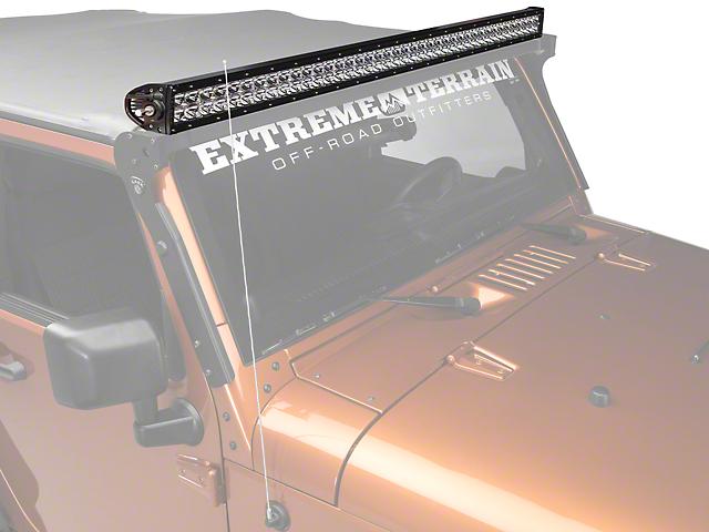 Rigid industries jeep wrangler 40 in e series led light bar spot rigid industries 40 in e series led light bar spot beam aloadofball Gallery