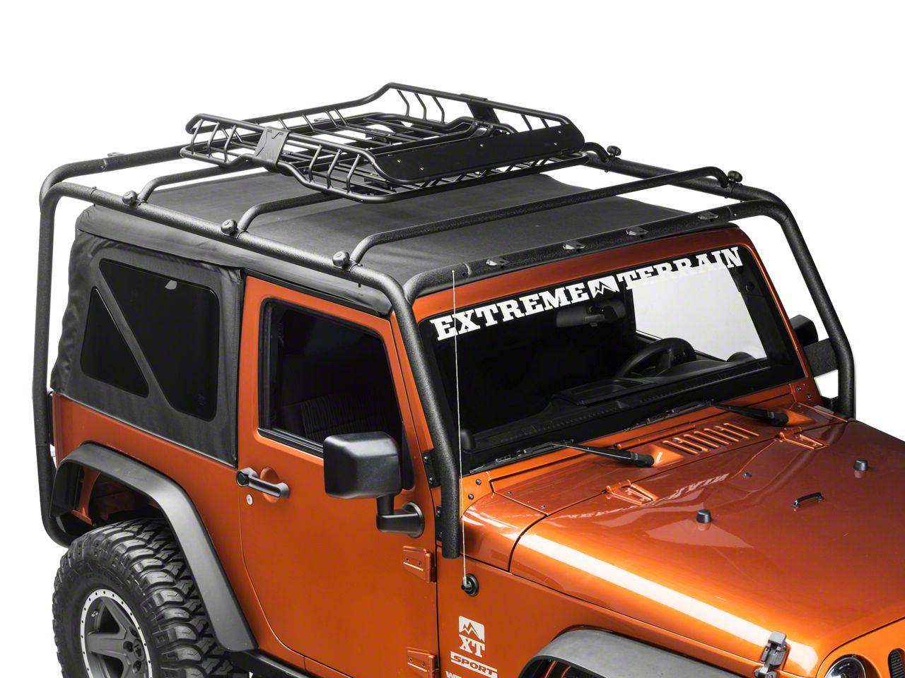 Barricade Jeep Wrangler X Tray Roof Rack Basket J103946 87 21 Jeep Wrangler Yj Tj Jk Jl