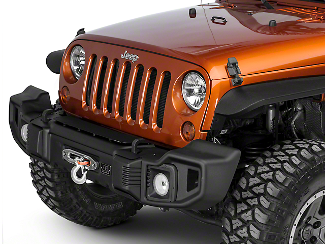 Rugged Ridge Spartacus Front Bumper - Satin Black (07-18 Jeep Wrangler JK)