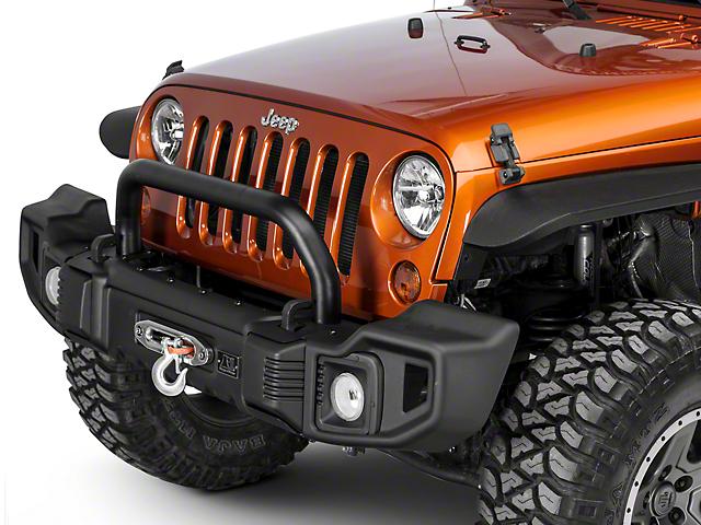Rugged Ridge Spartacus Front Bumper Over-Rider Hoop - Satin Black (07-18 Jeep Wrangler JK)