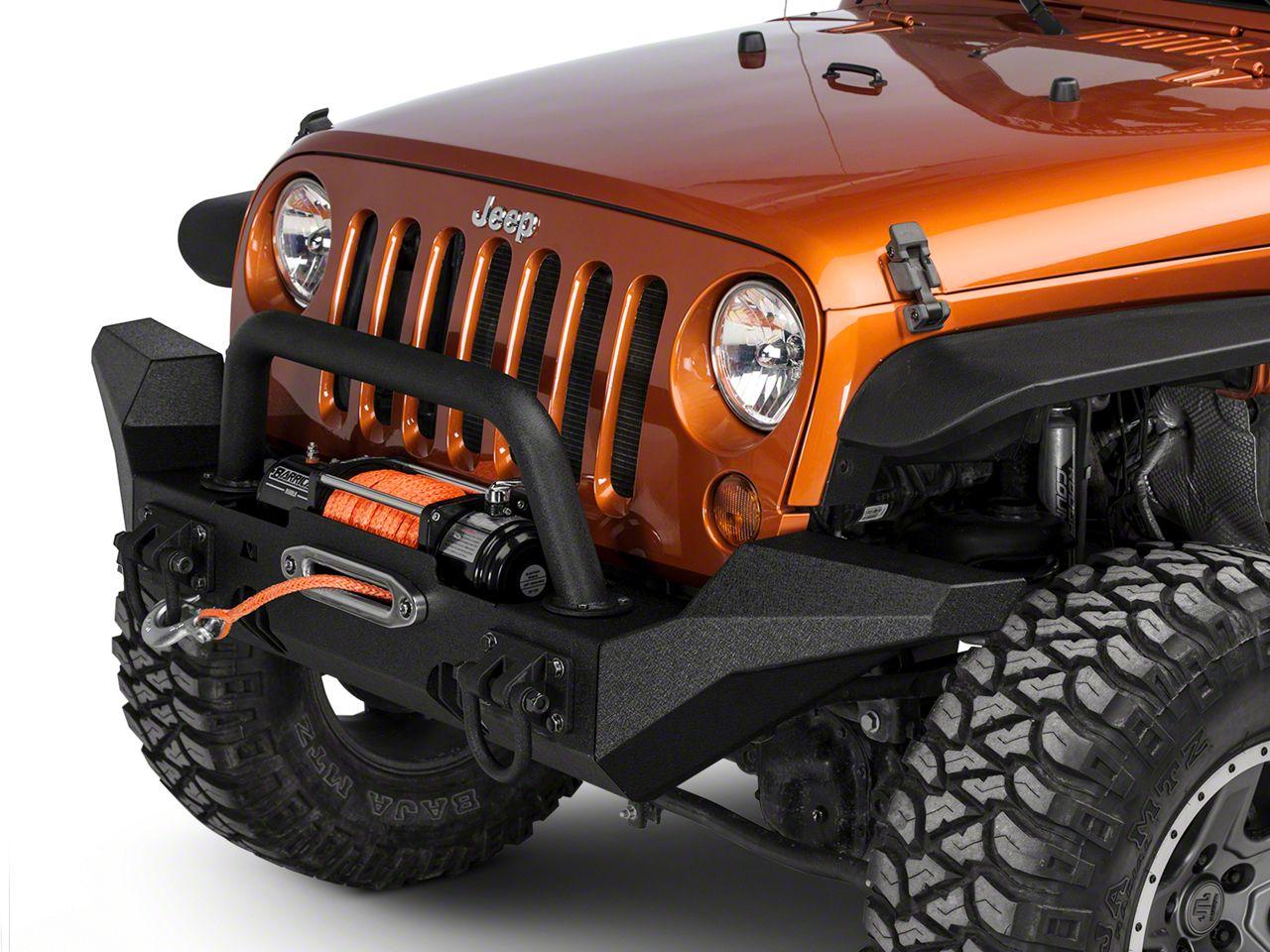 Rugged Ridge XHD Front Bumper Kit w/ High Clearance Bumper Ends (07-18 Jeep Wrangler JK)