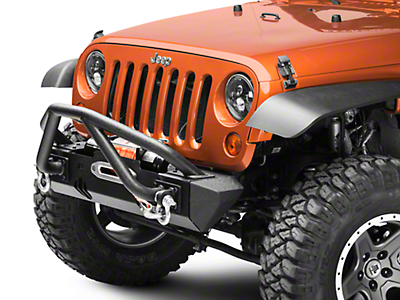Rugged Ridge XHD Front Bumper Kit w/ Striker Bar & Stubby Bumper Ends (07-18 Wrangler JK)