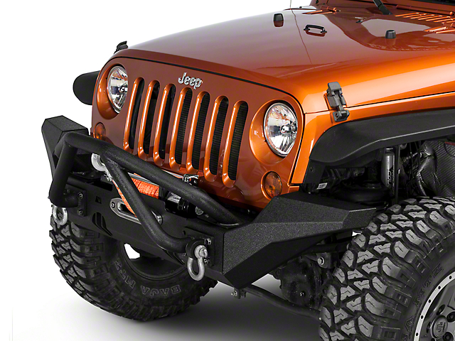 Rugged Ridge XHD Front Bumper w/ High Clearance Ends & Double-X Striker Bar (07-18 Jeep Wrangler JK)