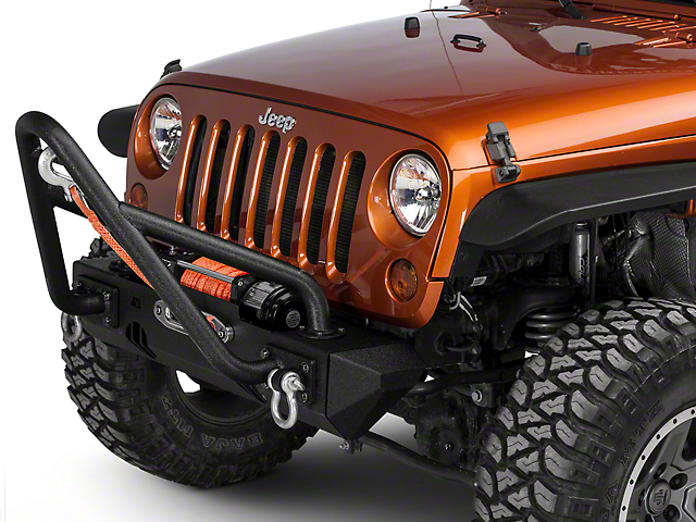 Rugged Ridge XHD Front Bumper Kit w/ Stinger Bar & Stubby Bumper Ends (07-18 Wrangler JK)