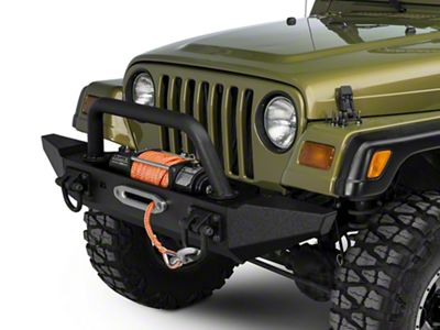 Rugged Ridge XHD Front Bumper w/ Overrider & Standard Bumper Ends (87-06 Jeep Wrangler TJ & YJ)