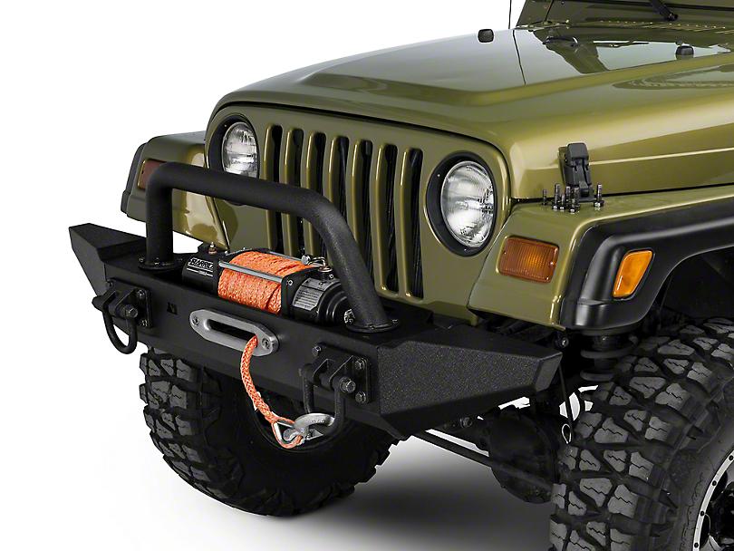 Rugged Ridge XHD Front Bumper w/ Overrider & Standard Bumper Ends (87-06 Jeep Wrangler TJ & YJ)