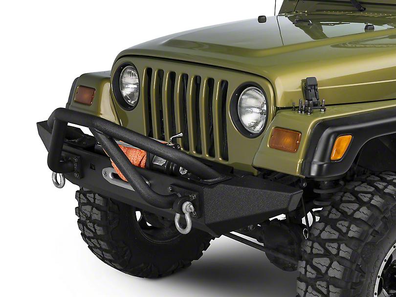 Rugged Ridge XHD Front Bumper Kit w/ Striker Bar & Standard Bumper Ends (87-06 Jeep Wrangler TJ & YJ)