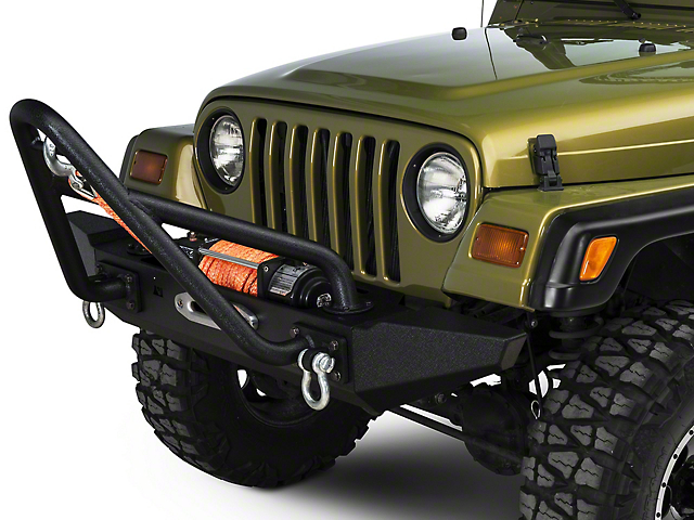 Rugged Ridge XHD Front Bumper with Stinger and Standard Ends (87-06 Jeep Wrangler YJ & TJ)