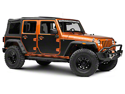 Rugged Ridge Magnetic Protection Panel Kit - Matte Black (07-18 Wrangler JK 4 Door)