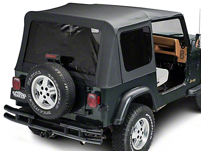 Barricade Replacement Soft Top w/ Tinted Windows w/ Upper Doors - Black Diamond (87-95 Wrangler YJ w/ Factory Soft Top)
