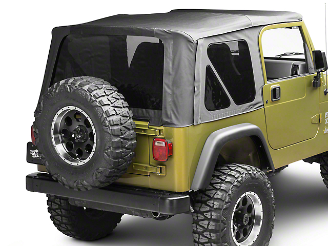 Barricade Replacement Soft Top w/ Tinted Windows; Black Diamond (97-06 Jeep Wrangler TJ w/ Factory Soft Top)