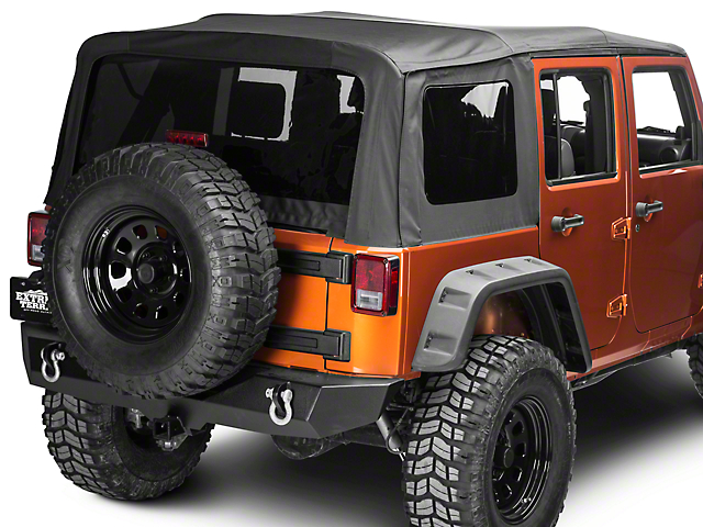 Barricade Replacement Soft Top w/ Tinted Windows - Black Diamond (10-18 Wrangler JK 4 Door)