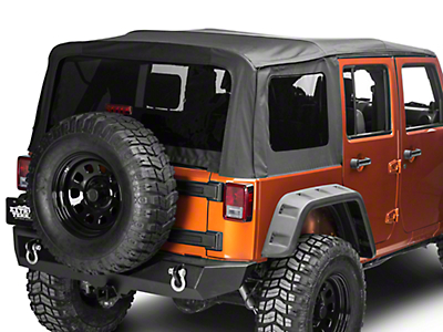 Barricade Premium Replacement Sailcloth Soft Top w/ Tinted Windows - Black Diamond (10-18 Wrangler JK 4 Door)
