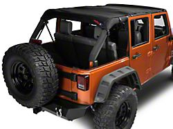 JTopsUSA Mesh Shade Top - Black (07-18 Jeep Wrangler JK 4 Door)
