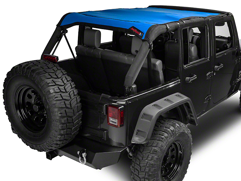 JTopsUSA Mesh Shade Top - Blue (07-18 Jeep Wrangler JK 4 Door)