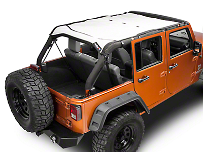 J Tops USA Safari Mesh - White (07-18 Wrangler JK 4 Door)