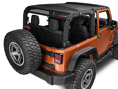 JTopsUSA Safari Mesh - Black (07-18 Jeep Wrangler JK 2 Door)