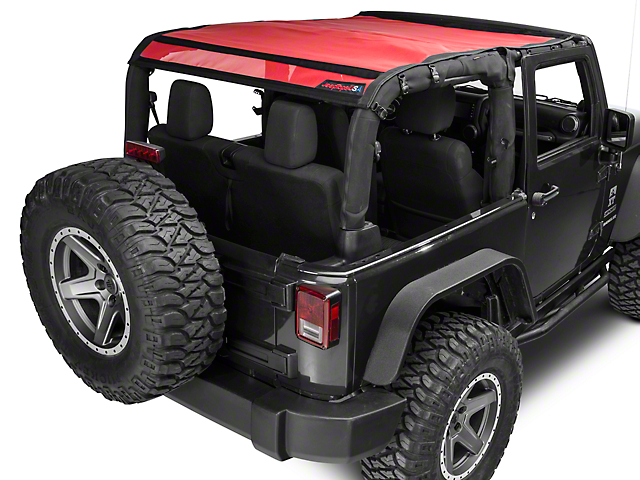 JTopsUSA Safari Mesh - Red (07-18 Jeep Wrangler JK 2 Door)