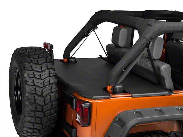 JTopsUSA Tonneau Cover - Black (07-18 Jeep Wrangler JK 4 Door)